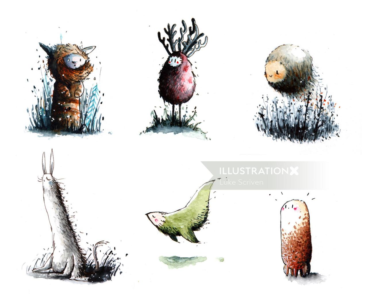 Mungarmi creatures illustration