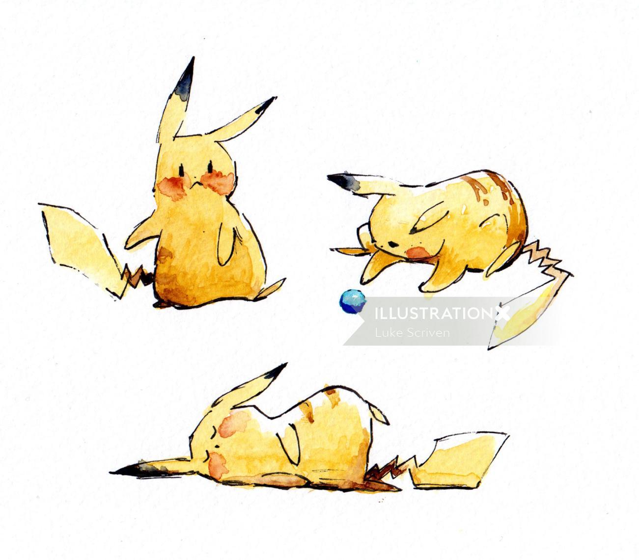 Pikachu fairytale art