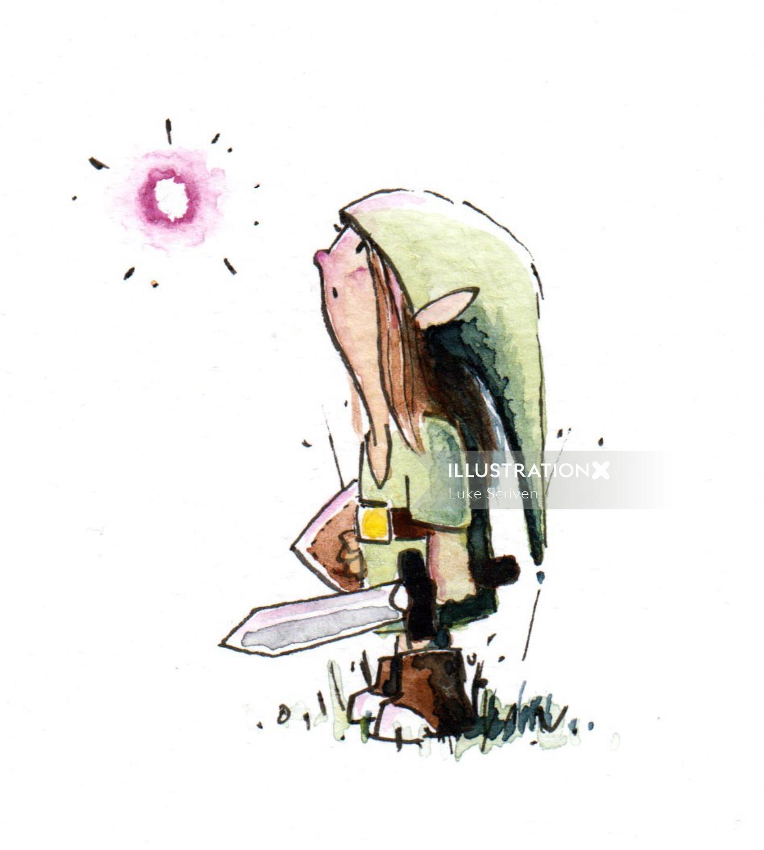 Character Art Of Zelda: Link and Navi