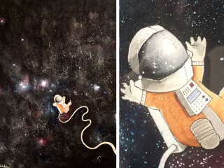 Lonely little astronaut