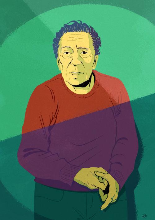 诗人桑德罗·佩纳的肖像