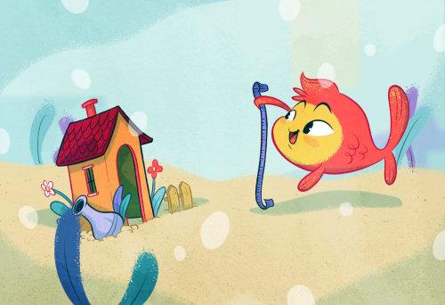 """illustration for children book """"Il Mondo fuori"""""""