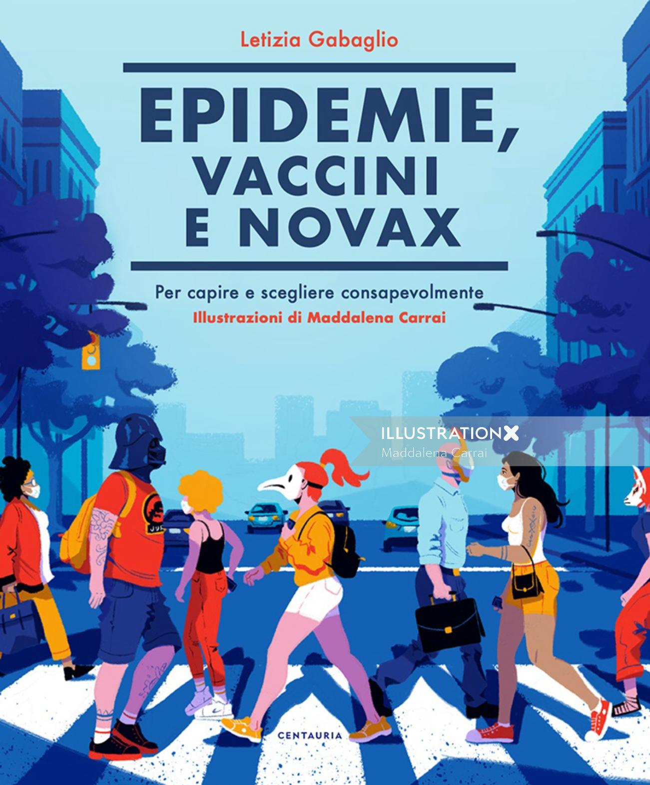 """my Book cover for the book """"Epidemie, vaccini e no vax"""""""