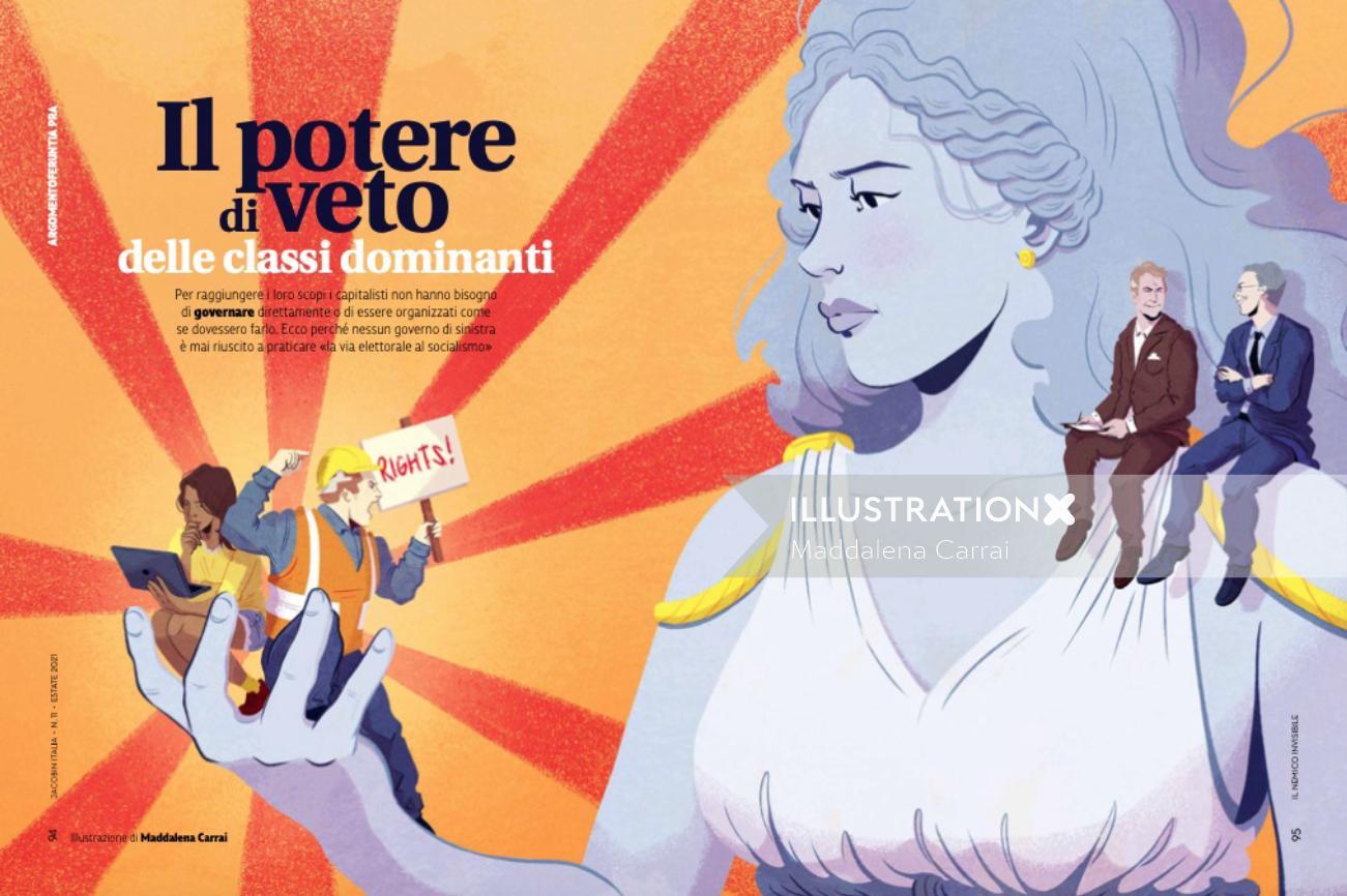 Illustration for Jacobin Magazine Italia