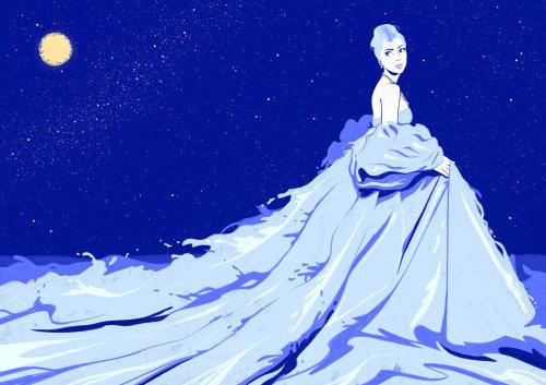 长连衣裙的时尚女孩