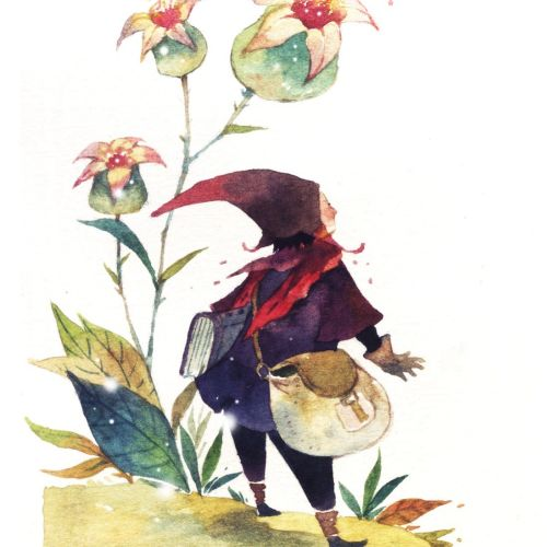 nature illustration for children's book
