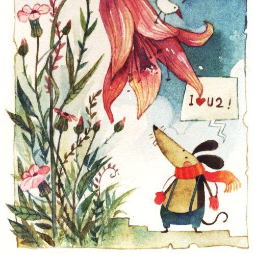 Animal watercolor illustration