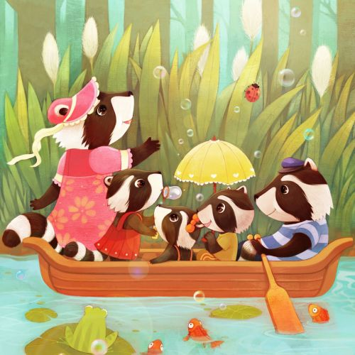 Mae Besom Illustrateur de livres pour enfants. Chine