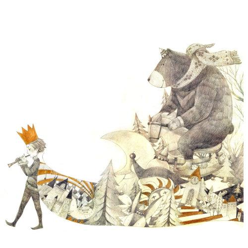 Ilustración de libro infantil de Mae Besom