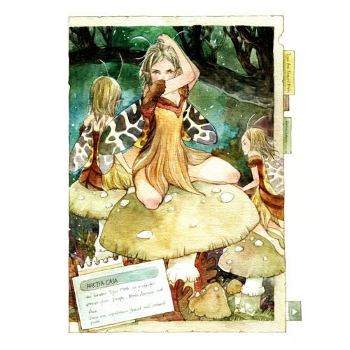 Children fairy on mushroom
