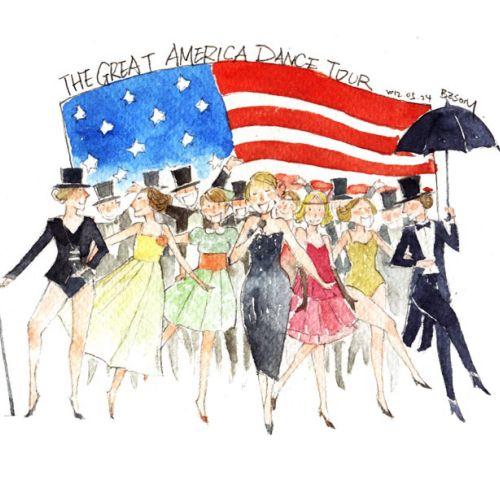 Illustration of Great america dance tour