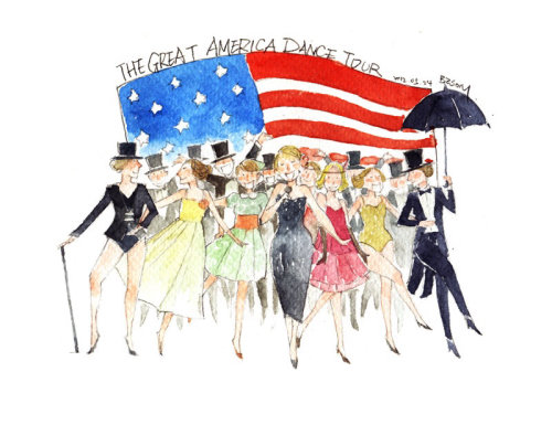 Illustration of Great america dance tour