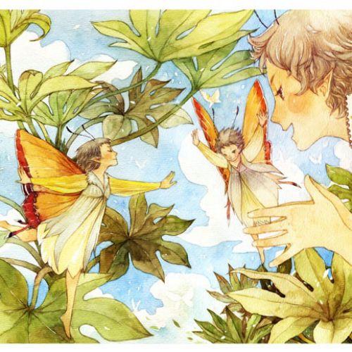 children fairy's in nature