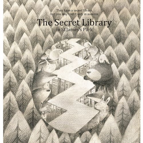The secret library children illustration
