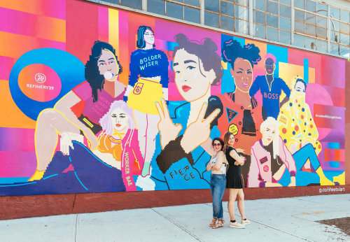 Mural design for Google and Refinery29 by Mallory Heyer