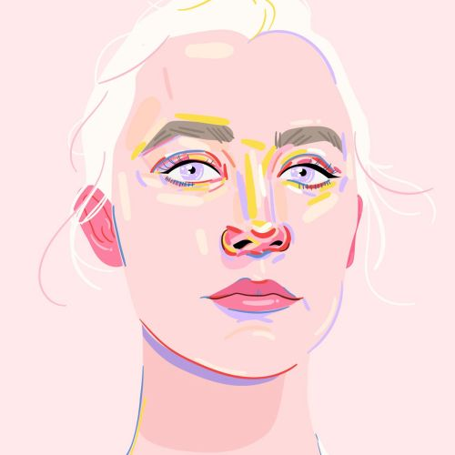 Stylized portrait of Saoirse Ronan
