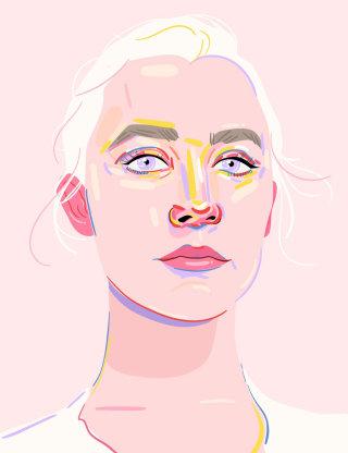 Stylized portrait of Saoirse Ronan