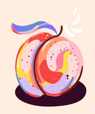 Peach illustration by Mallory Heyer