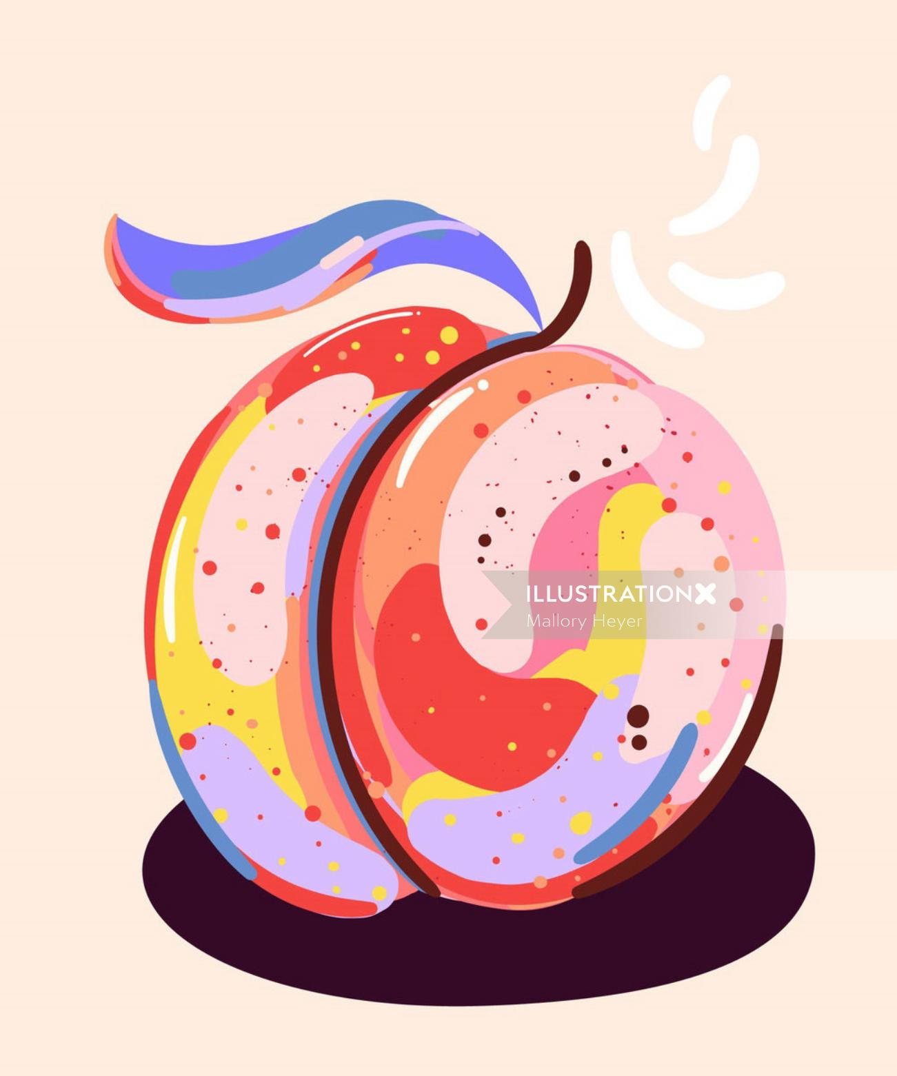 Peach illustration by Mallory Heyer