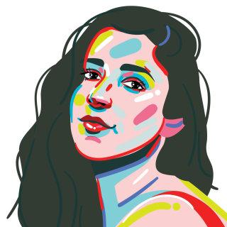 Portrait illustration of Aly Raisman