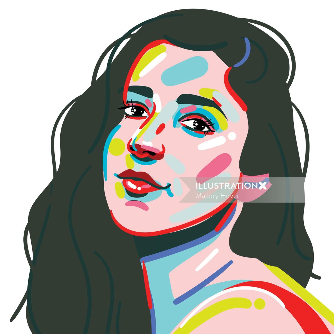 Portrait illustration of Aly Raisman