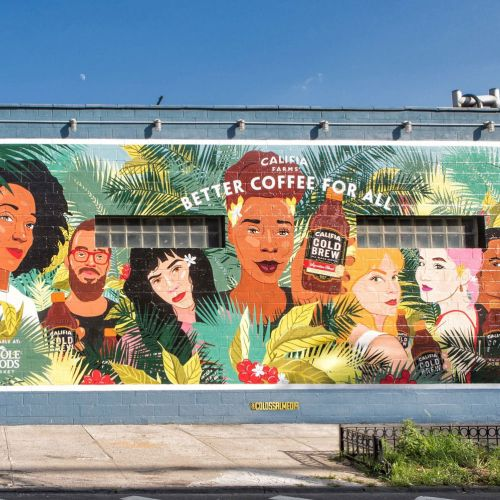 Mural illustration for Califia Farms