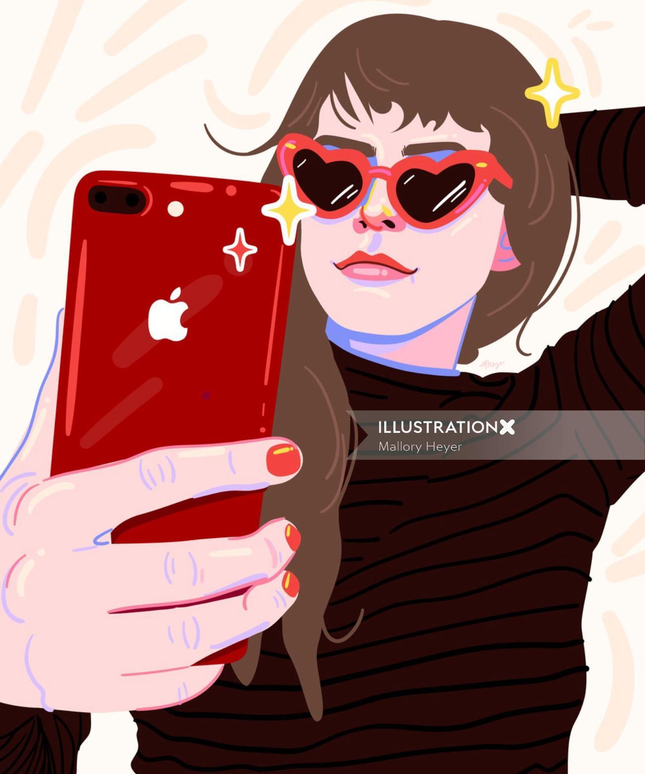 Illustration for (RED)'s social media accounts