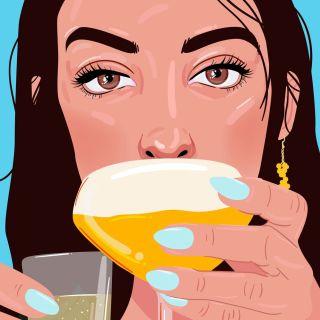 Editorial illustration of pornstar martini vodka