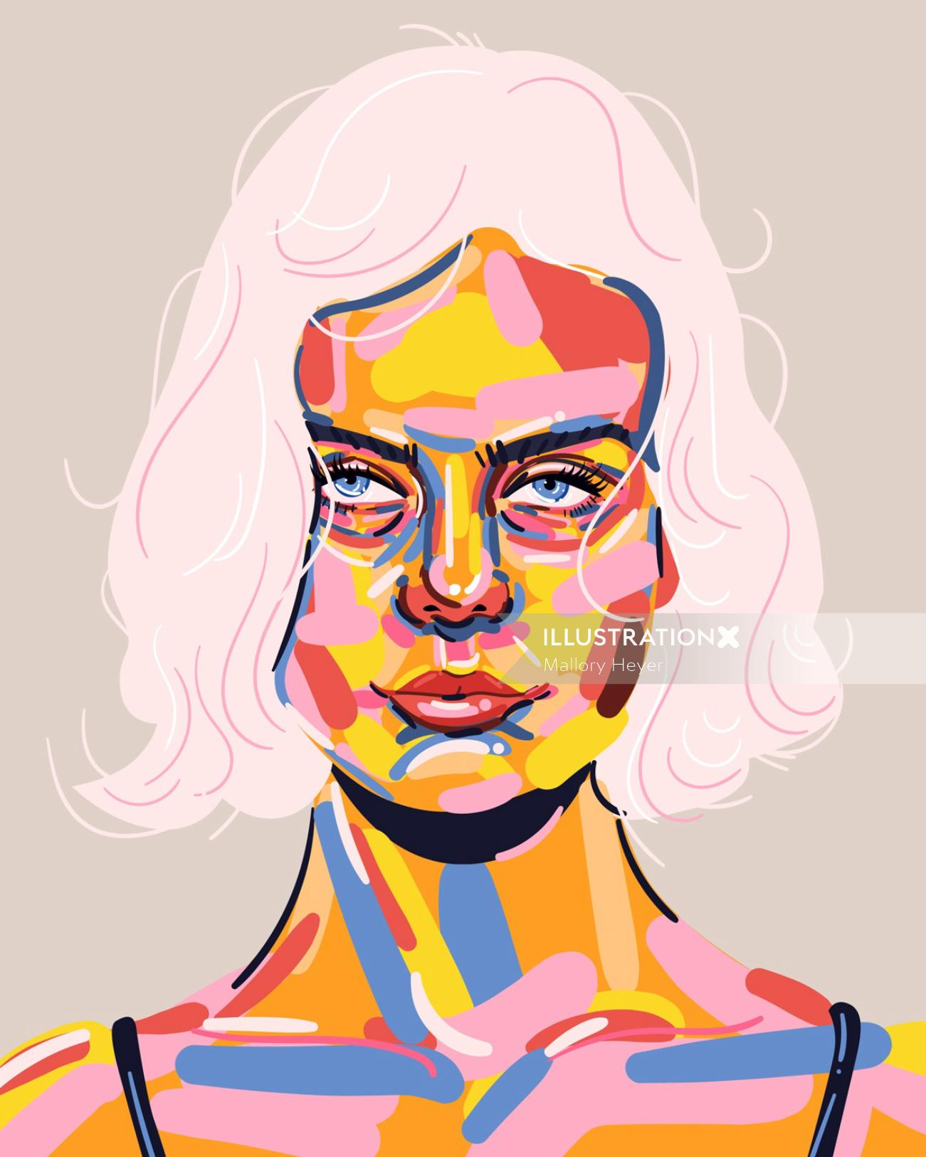 Portrait of a young woman by Mallory Heyer