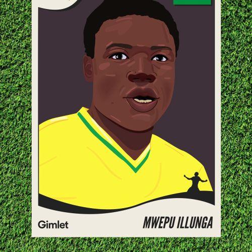 Mwepu Illunga portrait art for Gimlet Media's sport's