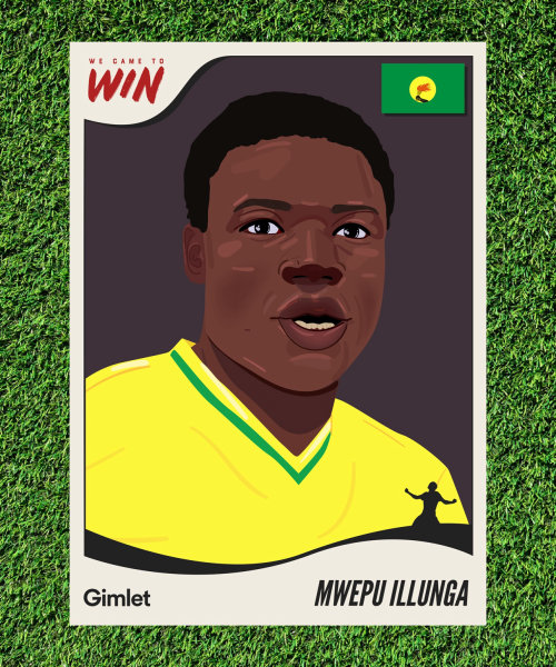Mwepu Illunga portrait art for Gimlet Media's sport's