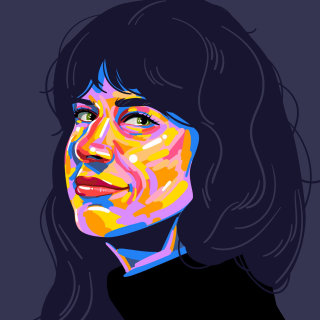Portrait illustration of Mallory Heyer