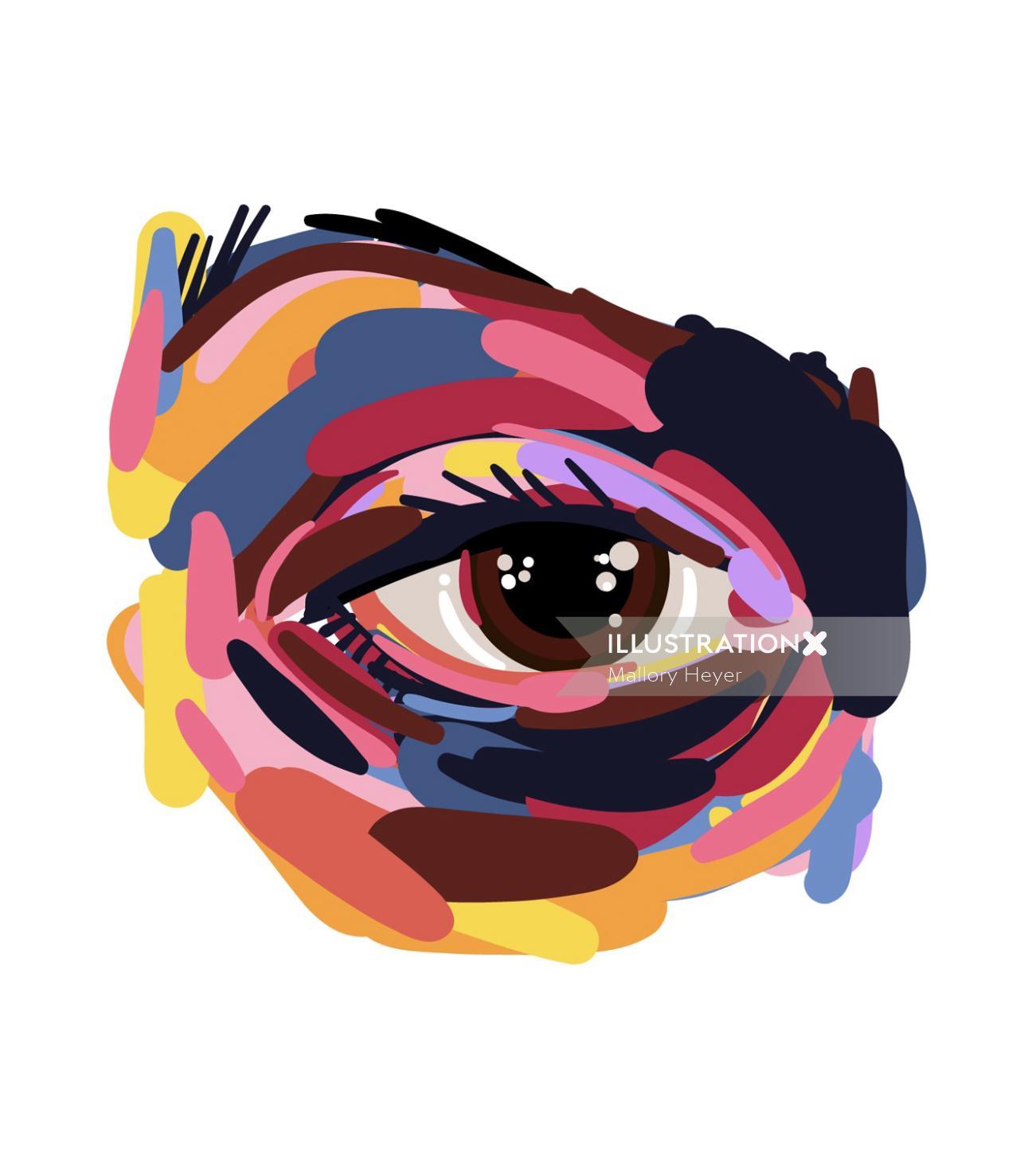 Illustration of eye ballin