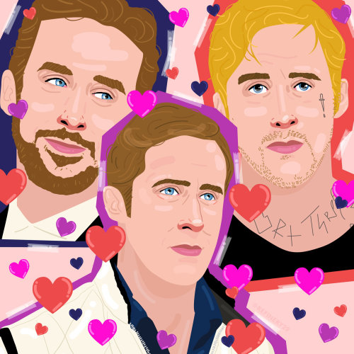 Portraits illustration of Ryan Gosling