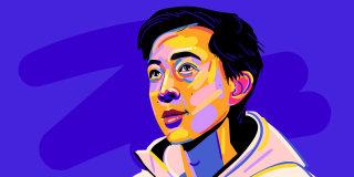 Portrait illustration of Vincent Zhou