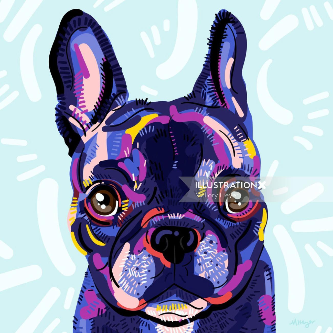 portrait illustration of Dog by Mallory Heyer