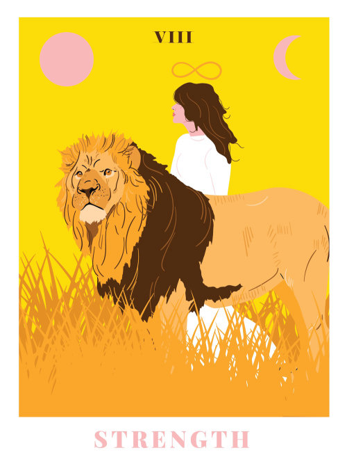 Animals Lion and woman