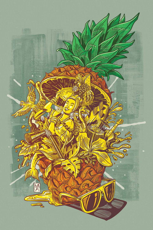 Label design for Tropical Pineapple Explosion