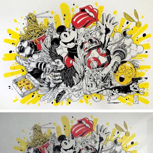 Comic wallposter for children room
