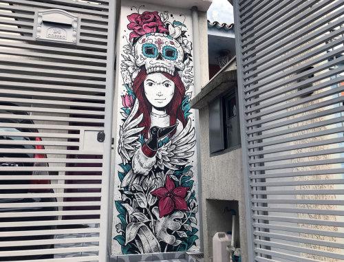 Mural art of a girl