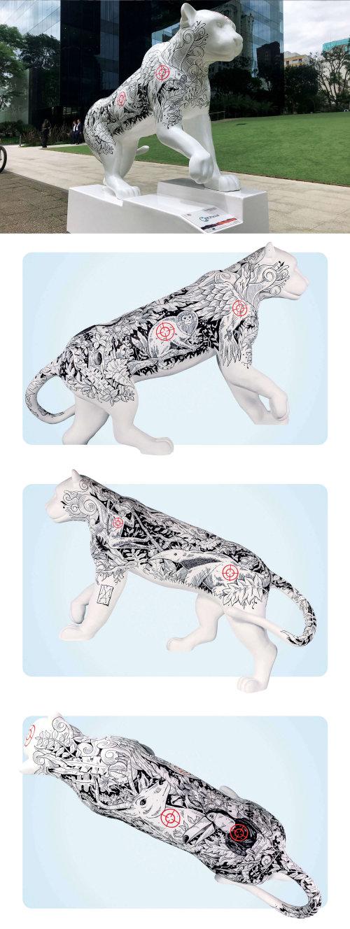 Animal Jaguar art for Jaguar Parade exhibition in Brazil