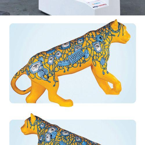 Animal Jaguar figure for Jaguar Parade