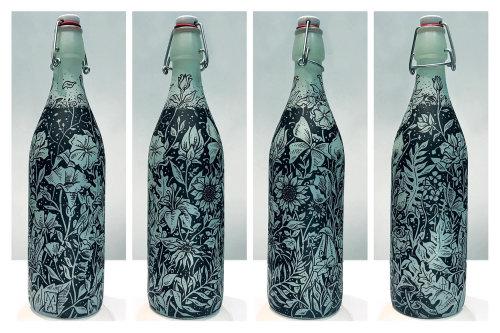 Flower theme bottle design by Marcelo Anache