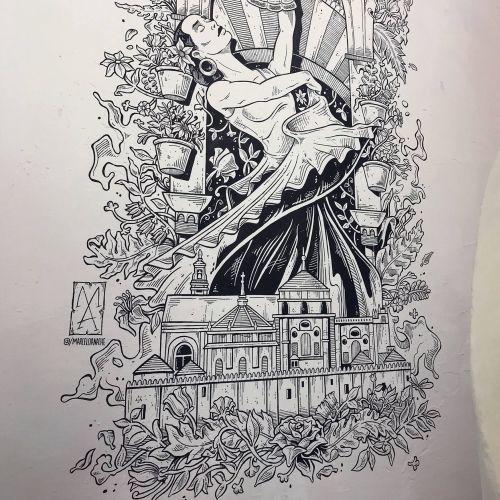 Black and white dance girl wall mural for hostel