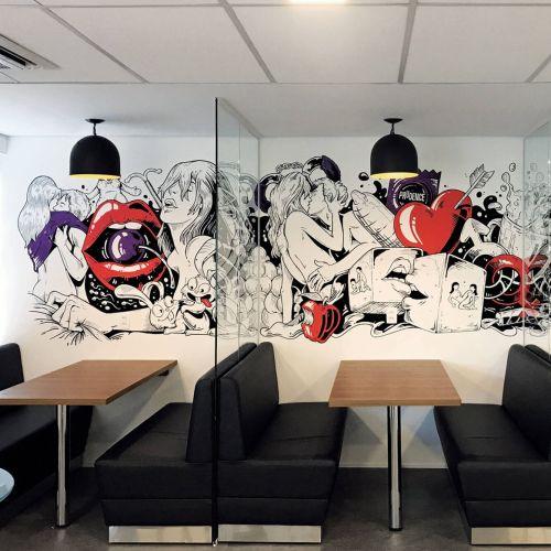 Sexy design mural art