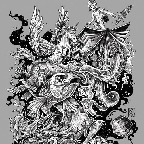 Fantasy magical poster illustration