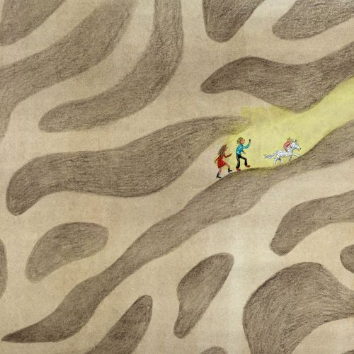 Children are lost in a giant maze.