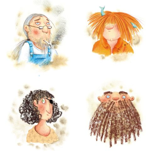 Different characters of woman for a children's book by Marieke Nelissen