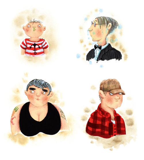 Design de personagens de livro infantil de Marieke Nelissen