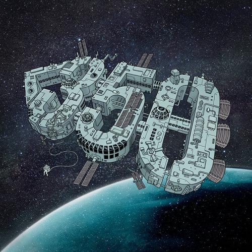 Design gráfico da estação espacial